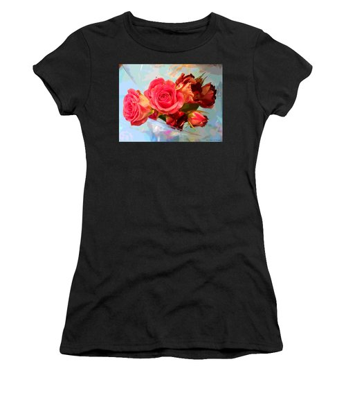 Roses 4 Lovers  Women's T-Shirt (Athletic Fit)