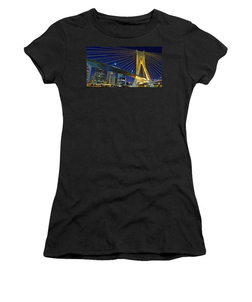Sao Paulo's Iconic Cable-stayed Bridge  Women's T-Shirt (Athletic Fit)