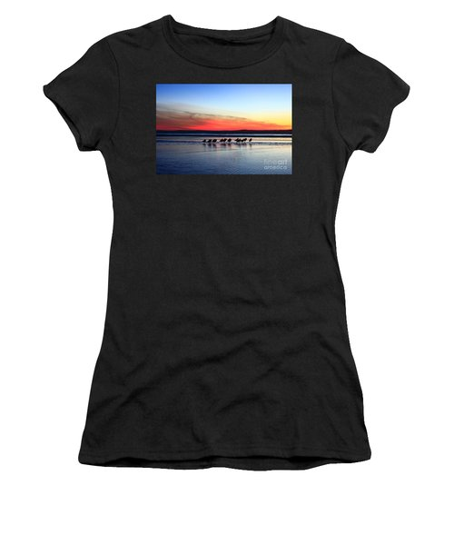 Shorebird Sunset Women's T-Shirt