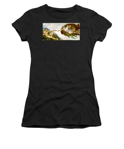 The Creation Of Adam Women's T-Shirt (Athletic Fit)