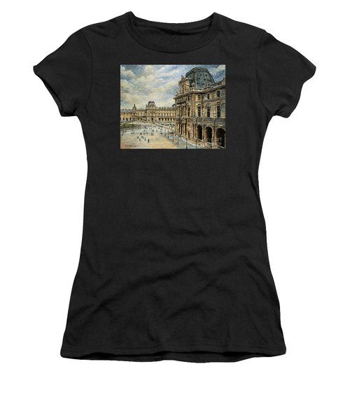 The Louvre Museum Women's T-Shirt (Athletic Fit)