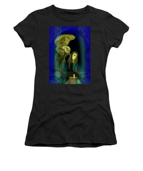 028 -  The  Arrival Of The Gods  Women's T-Shirt (Athletic Fit)