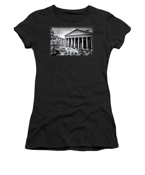 0786 The Pantheon Black And White Women's T-Shirt