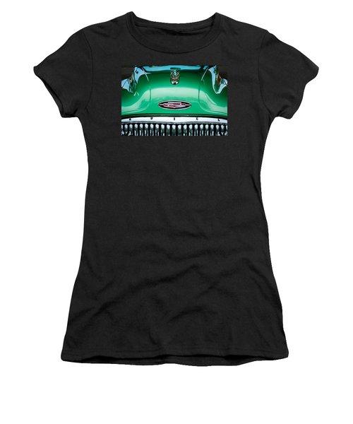 Women's T-Shirt featuring the photograph 1953 Buick Hood Ornament - Emblem by Jill Reger