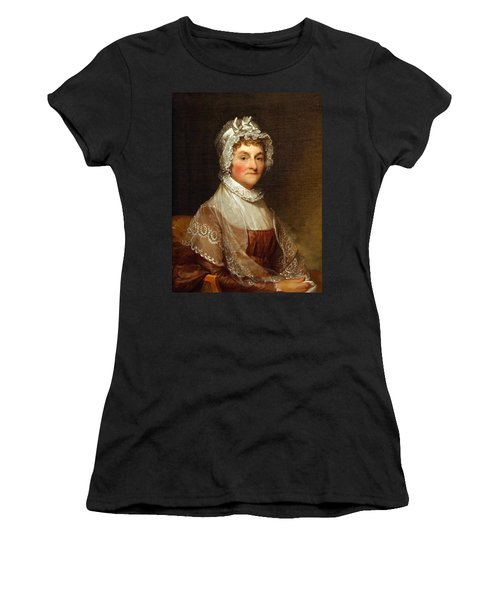 Women's T-Shirt (Junior Cut) featuring the photograph Abigail Smith Adams By Gilbert Stuart by Cora Wandel