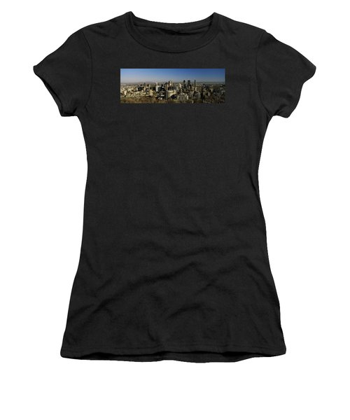 Aerial View Of Skyscrapers In A City Women's T-Shirt