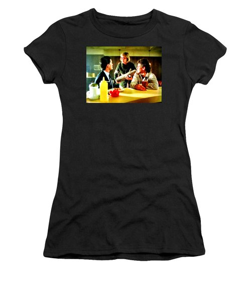 Women's T-Shirt (Junior Cut) featuring the painting Ask It by Luis Ludzska