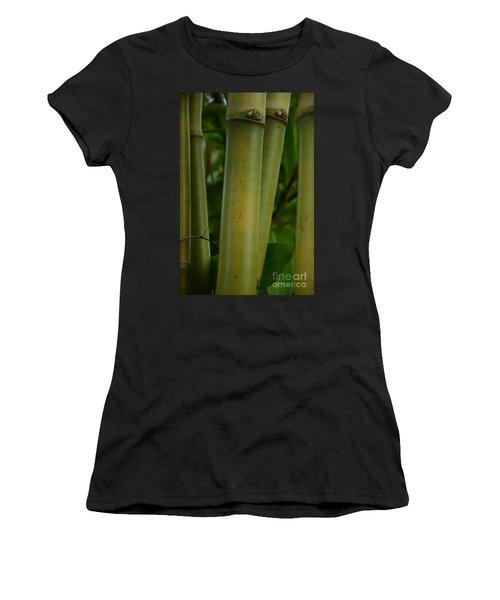 Women's T-Shirt (Junior Cut) featuring the photograph Bamboo II by Robert Meanor