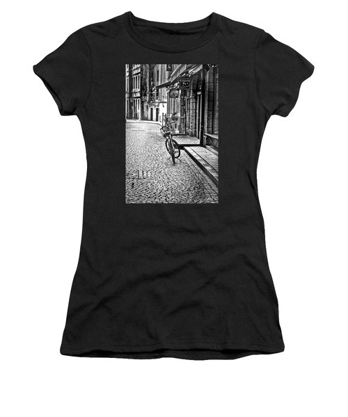 Bicycle And Sparrow 2  Women's T-Shirt (Junior Cut) by Elf Evans