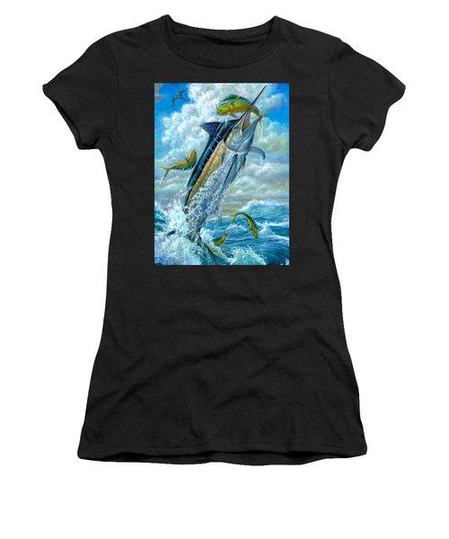 Big Jump Blue Marlin With Mahi Mahi Women's T-Shirt