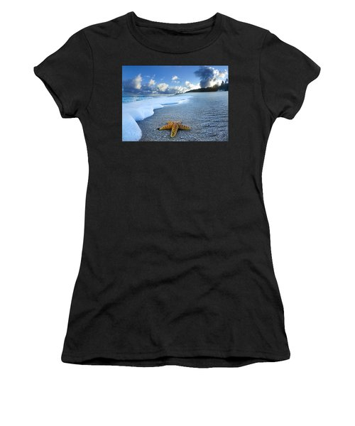 Blue Foam Starfish Women's T-Shirt