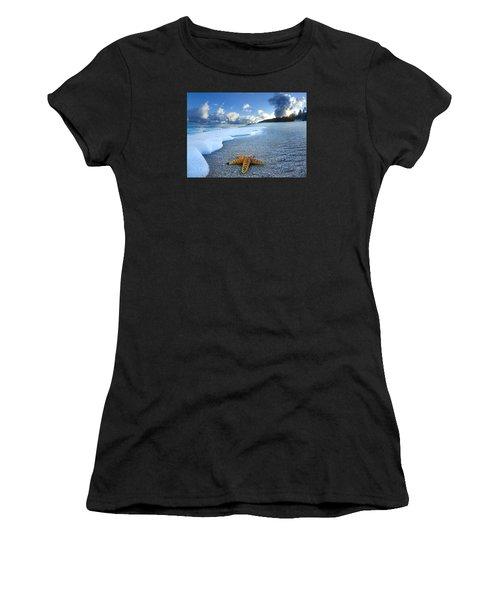 Blue Foam Starfish Women's T-Shirt (Athletic Fit)
