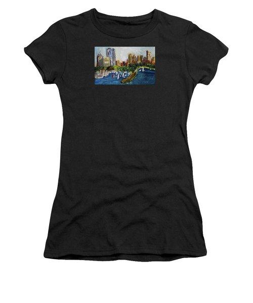 Boston Skyline Women's T-Shirt (Athletic Fit)