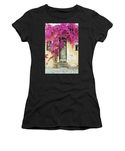 Bougainvillea Doorway Women's T-Shirt (Athletic Fit)