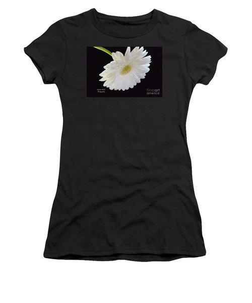Women's T-Shirt (Junior Cut) featuring the photograph Bright White Gerber Daisy # 2 by Jeannie Rhode