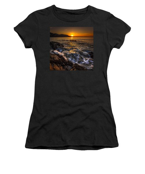 Chamoso Point In Ares Estuary Galicia Spain Women's T-Shirt (Athletic Fit)