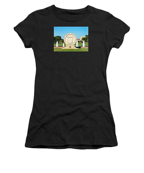 Women's T-Shirt featuring the photograph Classical Image Of The Texas Tech University Seal  by Mae Wertz