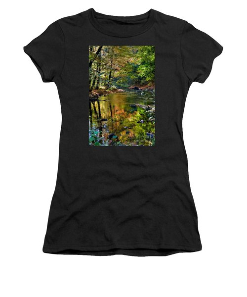 Women's T-Shirt (Junior Cut) featuring the photograph Color Creek by Robert Pearson