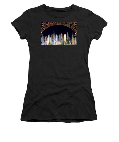 Dallas At Night Women's T-Shirt (Athletic Fit)