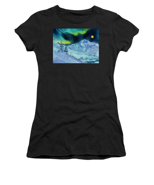 Denali Night Women's T-Shirt (Athletic Fit)