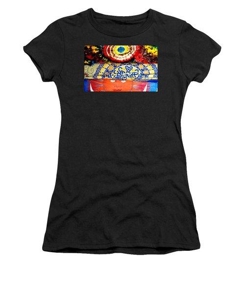 Women's T-Shirt (Junior Cut) featuring the photograph Eye On Fabrics by Michael Hoard