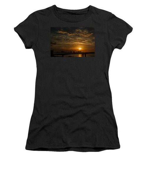 Women's T-Shirt (Junior Cut) featuring the photograph Florida Sunset by Jane Luxton