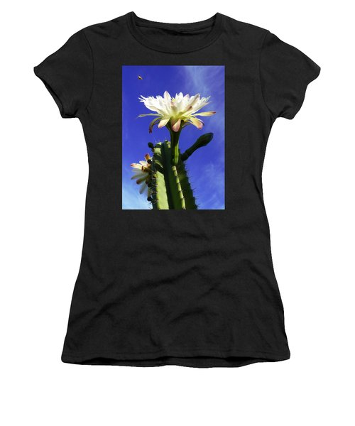 Flowering Cactus 3 Women's T-Shirt (Athletic Fit)