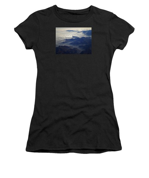 Flying Over The Alps In Europe Women's T-Shirt (Athletic Fit)