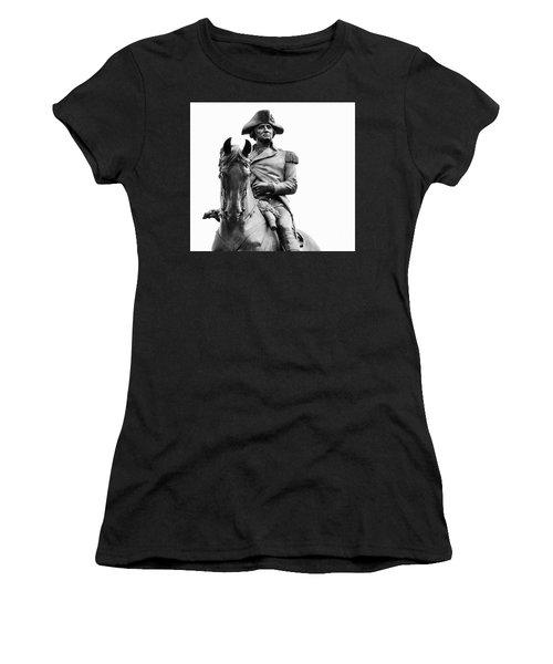 George Washington Statue Boston Ma Women's T-Shirt
