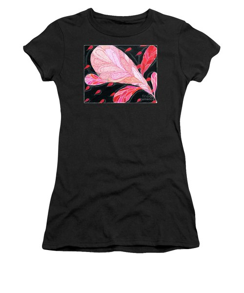 Women's T-Shirt (Junior Cut) featuring the drawing Heartpods by Kim Sy Ok