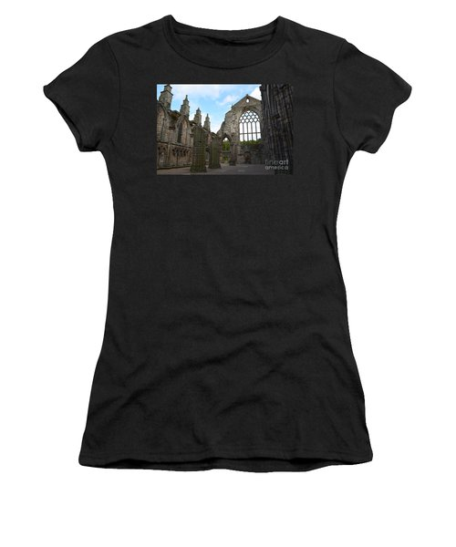 Holyrood Abbey Ruins Women's T-Shirt (Athletic Fit)