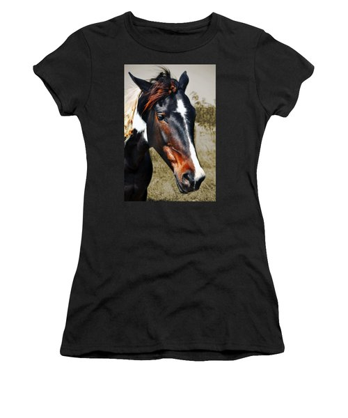 Women's T-Shirt (Junior Cut) featuring the photograph Horse by Savannah Gibbs