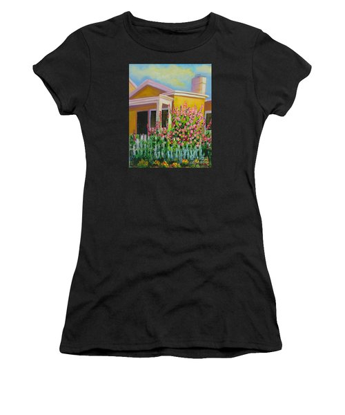 Hot Hollyhocks Women's T-Shirt