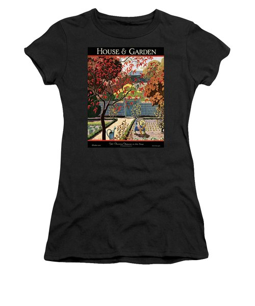 House And Garden Fall Planting Number Cover Women's T-Shirt