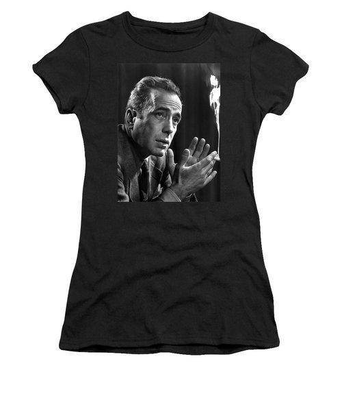 Humphrey Bogart Portrait 2 Karsh Photo Circa 1954-2014 Women's T-Shirt (Athletic Fit)