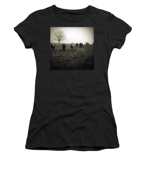 Livestock Women's T-Shirt (Junior Cut) by Les Cunliffe