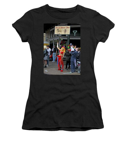 French Quarter Mardi Gras Women's T-Shirt (Junior Cut) by Luana K Perez