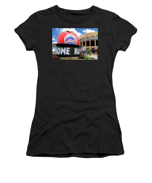 Mets Home Run Apple Women's T-Shirt (Athletic Fit)
