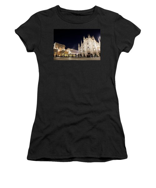 Milan Cathedral Vittorio Emanuele II Gallery Italy Women's T-Shirt (Athletic Fit)