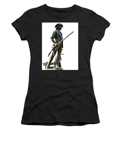Minute Man Statue Concord Ma Women's T-Shirt