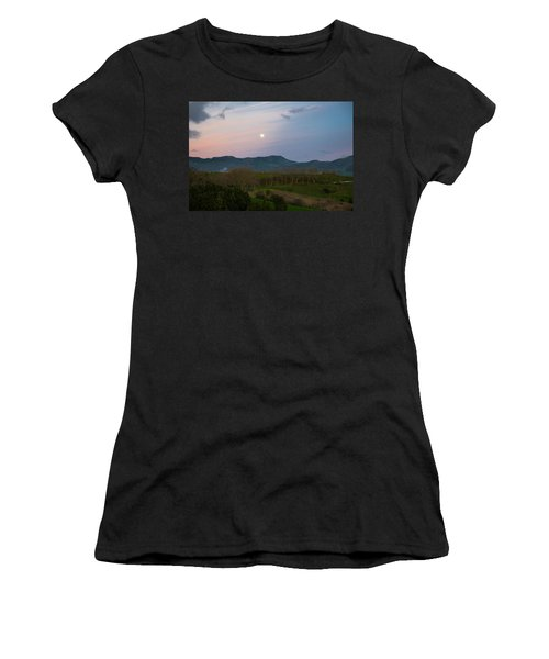 Moon Over The Hills Of Povoacao Women's T-Shirt