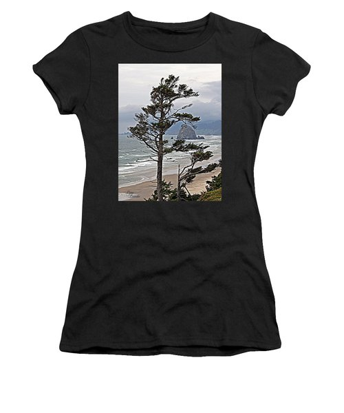 Oregon Coastline Women's T-Shirt (Athletic Fit)