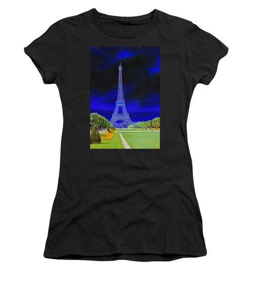 Purple Eiffel Women's T-Shirt