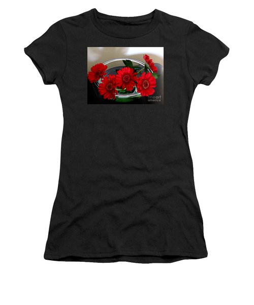 Red Flowers. Special Women's T-Shirt