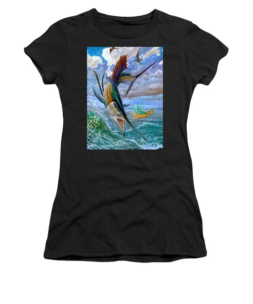 Sailfish And Lure Women's T-Shirt (Athletic Fit)