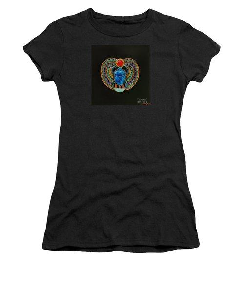 Scarab Women's T-Shirt (Junior Cut) by Joseph Sonday