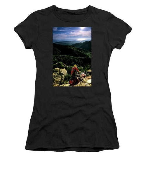 Search And Rescue Climber Tending Body Women's T-Shirt