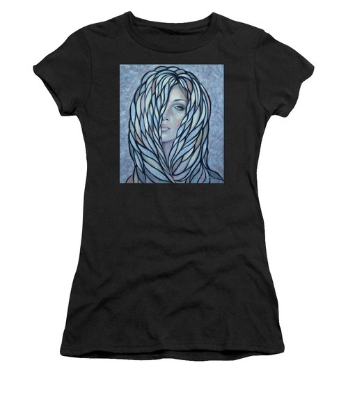 Silver Nymph 021109 Women's T-Shirt (Athletic Fit)
