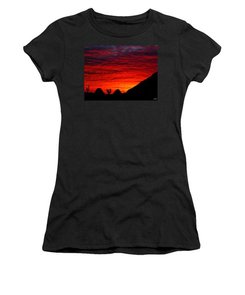 Sunset In The Desert Women's T-Shirt (Junior Cut) by Bruce Nutting
