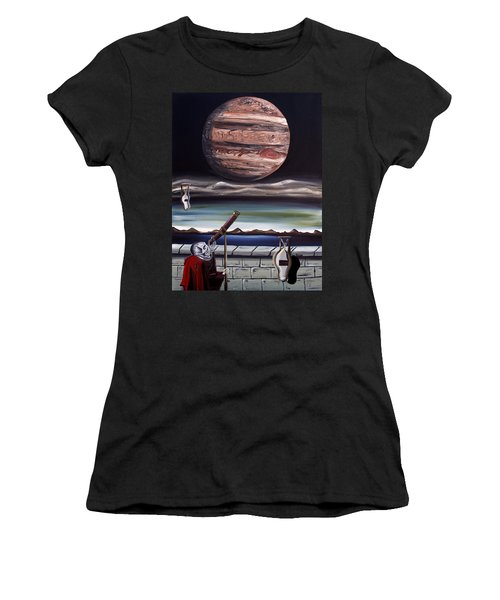 Women's T-Shirt (Junior Cut) featuring the painting The Eternal Staring Contest by Ryan Demaree